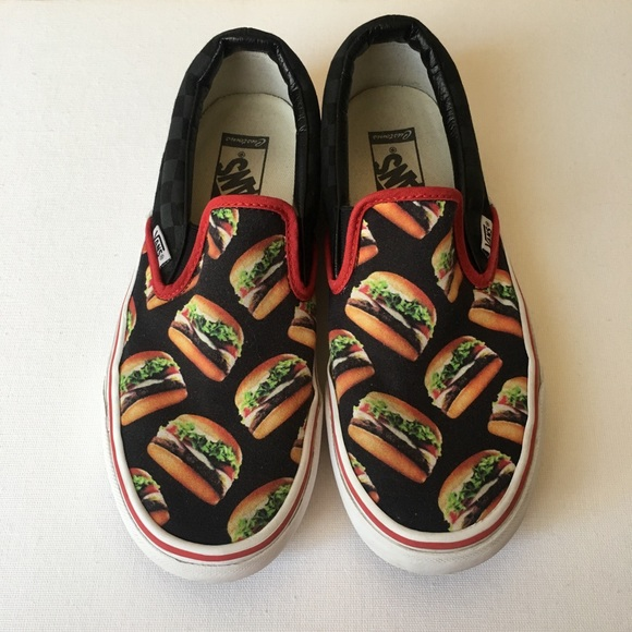 db2e8b7baef76f Poshmark Poshmark Vans Slip On Pizza Burgers Shoes Shoes Made Checkered  Custom wg6zpx
